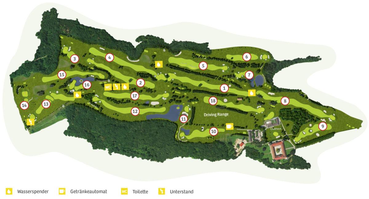 Gesamtplan Golfclub Liz