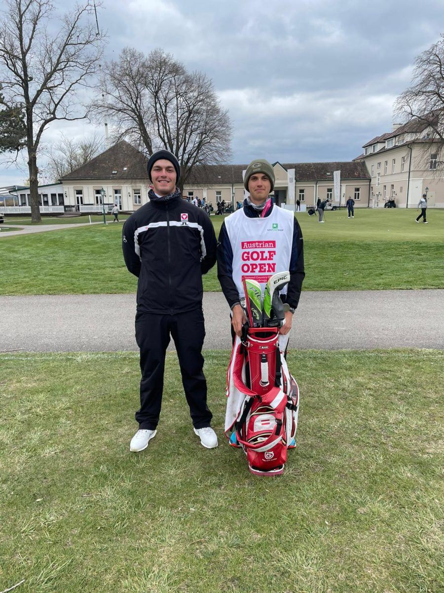 Christoph Bleier mit Jan Huber beim Austrian Golf Open 2021