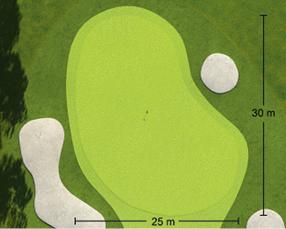 Loch Nummer 1 - Detailansicht Green