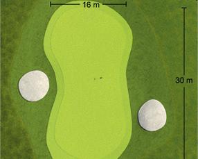 Loch Nummer 2 - Detailansicht Green